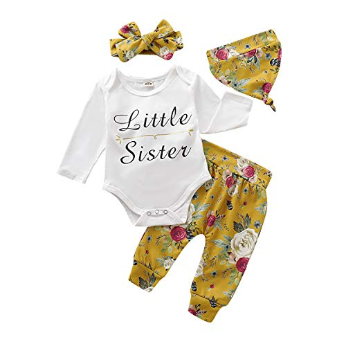 MetCuento Baby Girls Clothes Set Floral Letter Print Romper Jumpsuit Shorts Summer Outfits