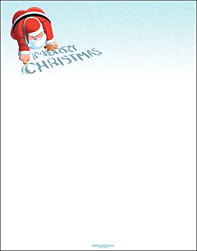 Christmas Stationery - Merry Christmas - 8.5 x 11-80 Sheets - Christmas Letterhead (Merry Christmas)