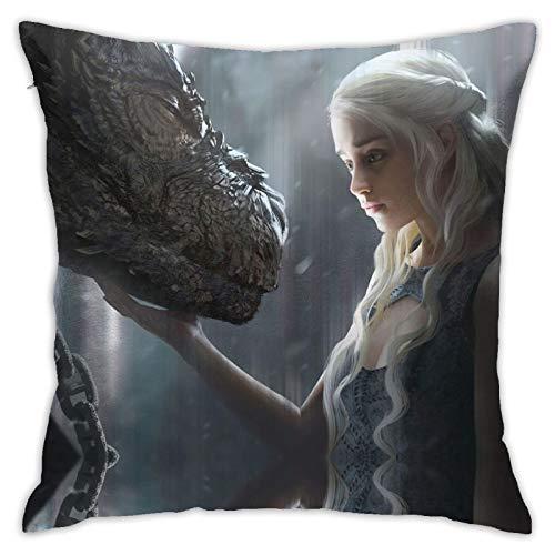 Adventure Jon Snow Fire and Blood Huevo taza Westeros Ga-me of Thr-ones Manta almohada sofá dormitorio juego de fiesta con antideslizante 114,3 x 114,3 cm
