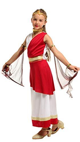 N / A Cosplay Halloween Novedad Regalo Disfraz para niños Mascarada Disfraz de actuación egipcia Vestido de Princesa árabe de Navidad Body Height:105-120cm