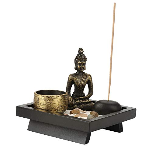 Annjom Robuste Harz- / Glas- / Steinmaterialien, Stabiler Weihrauchhalter, Kerzenhalter mit realistischem Design, für Meditation Relax Decor Set Meditation