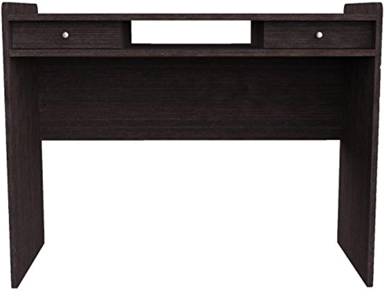 Furniture 247 Moderner Arbeitsplatz  Heimbüro-Schreibtisch mit 2 Grünckten Schubladen - Schwarze Eiche (schwarz Oak)