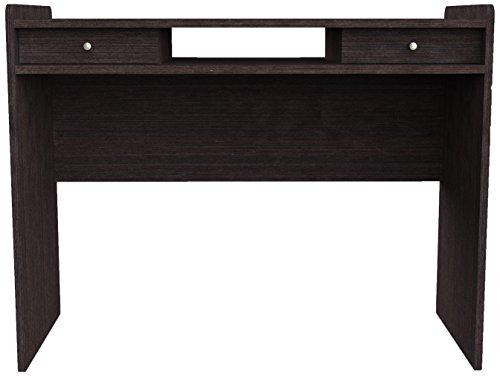 Furniture 247 Modern Workstation/Home Office Desk with 2 Concealed Drawers - Black Oak