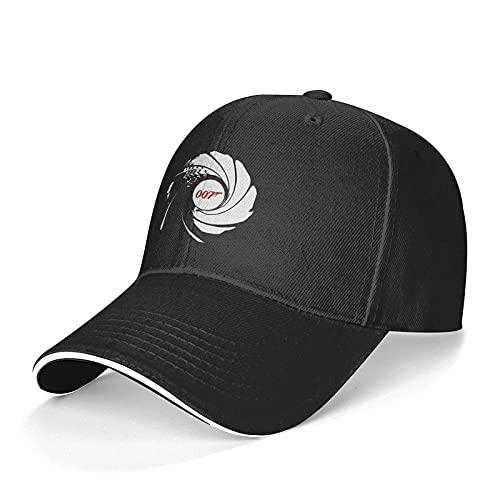 DENGDAI Unisex Cappellini Baseball James Bond 007 (3) Cappello da Camionista Regolabile Lavabile Cappello da papà