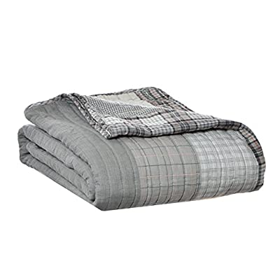 Eddie Bauer Fairview Quilted Cotton Throw Blanket