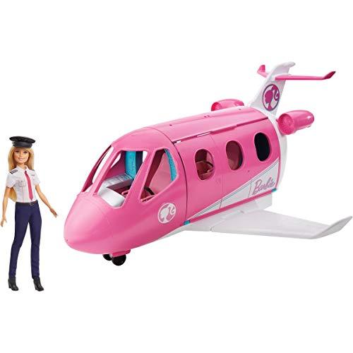 Barbie Aereo dei Sogni con Pilota, Playset con Veicolo e Bambola Bionda Inclusa, Giocattolo per Bambini 3+ Anni, GJB33