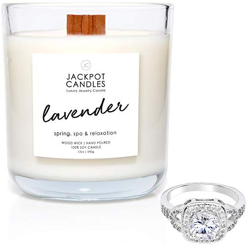 Lavender Candle with Ring Inside (Surprise Jewelry Valued at $15 to $5,000) Ring Size 7