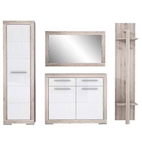 FORTE Attrus Garderobe Set, Holzwerkstoff, 220 x 198,5 x 38,5 cm
