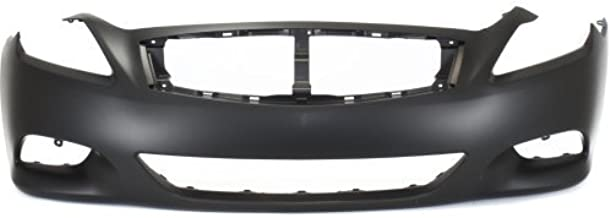 Front Bumper Cover Compatible with 2008-2013 Infiniti G37/Q60 2014-2015 Primed Convertible/Coupe Standard Type