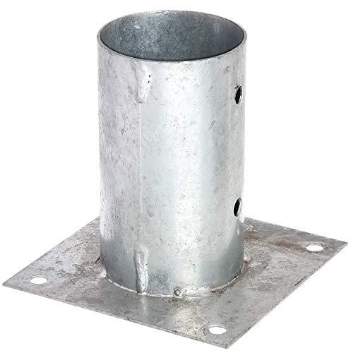 GAH-Alberts 211653 Aufschraubhülse | für Rund- oder Vierkantholzpfosten | feuerverzinkt | Ø81 mm