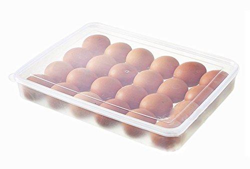 Hosaire 1x Aufbewahrungsbox Multifunktional Aufbewahrung Eier Carrier Container Halter für Kühlschrank Ei Rack Box Organizer mit 24 Eier Gitter