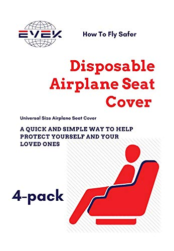 4pcs Protective Airplane Seat Covers Protectors Universal Seat Cover for Airplane Cars Vehicles Disposable/Reusable Traveling Accessories Durable Design (Grey, 4-Pack)