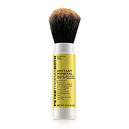 Instant Mineral Broad Spectrum SPF 45 Sunscreen, Brush-On Sunscreen Powder for On-the-Go UVA/UVB Protection