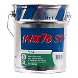 Peinture GUITTET MAT 78 ST BLANC 3 LITRES