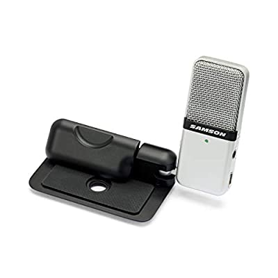 Samson Go Mic Portable USB Condenser Microphone for Recording and Streaming on Computers (SAGOMIC) from Samson