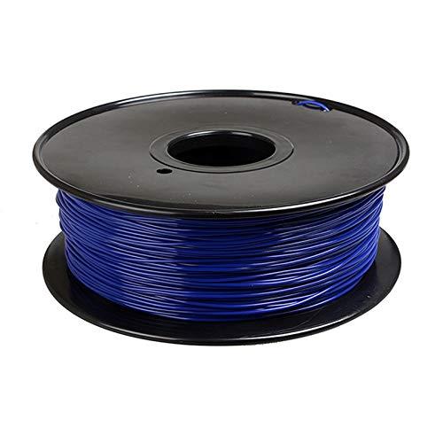 YANGDONG Nettogewicht 1kg, 3D-Druck-PLA-Verbrauchsmaterial, 21 Feste Farben, 1,75 Mm Durchmesser, Umweltfreundlicher Draht Zum Druckstiften, (Color : Dark Blue)