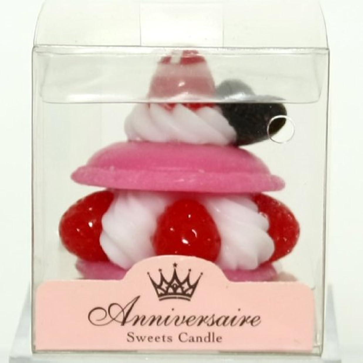 浮く制限する傷つきやすいスイーツキャンドル(sweets candle) マカロンケーキキャンドル【ピンク】