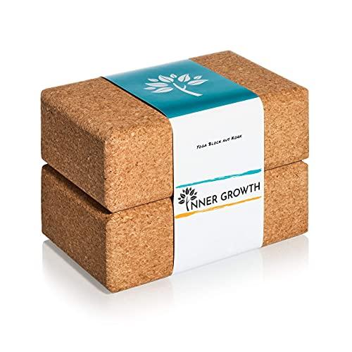 Inner Growth Yoga Block ECO Medium - tillverkad av naturkork Tillverkad i Portugal - våra yogablock...