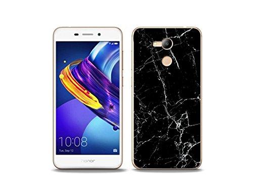 etuo Handyhülle für Huawei Honor 6C Pro - Hülle Fantastic Case - Schwarze Marmor - Handyhülle Schutzhülle Etui Case Cover Tasche für Handy