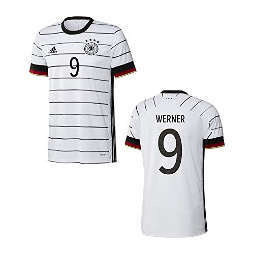 adidas DFB Deutschland Trikot Home EM 2020 Kinder inkl. Original Flock (Werner + 9, 152)