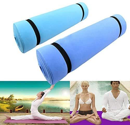 WYJW yogamat, antislip, yogamat, voor oefeningen, 1 stuks, matras voor slaapmatras, EVA-schuim, yogamat, vochtbestendig, milieuvriendelijk