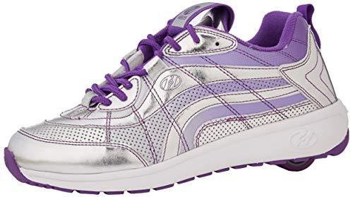 Heelys Damen Nitro Sneaker, Silber (Silver/Violet Silver/Violet), 36.5 EU