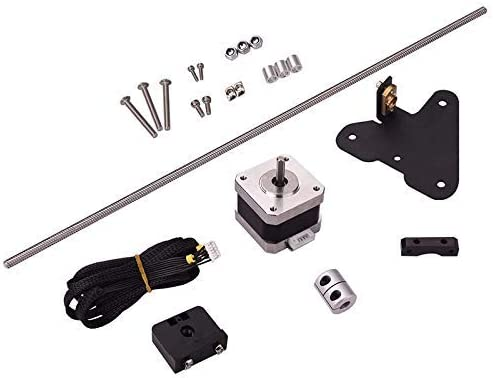 FMTZZY Printer accessoris 3D Printer Accessories Dual Z Axis Leading Screw Rod Upgrade Kit with Stepper Motor for Creality CR-10 3D Printer