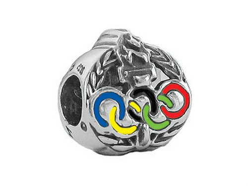 Zable Sterling Silver Olympics Rings Bead/Charm