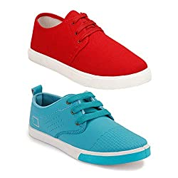 Earton Mens Stylish and Trendy Combo Canvas Sneakers