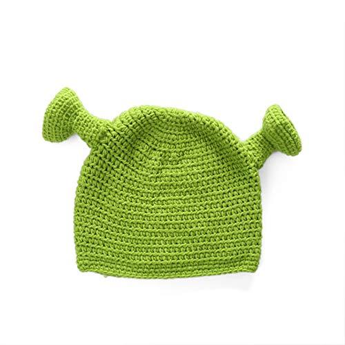 WSY Unisex Balaclava Monster Shrek Hat Lana Inverno Inverno Cappelli a Maglia Verde Party Divertente Berretto Berretto Skullies cap per Le Donne Uomo Pure Handmade (Color : Green, Size : Free Size)