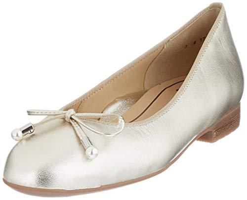 ara Damen SARDINIA Geschlossene Ballerinas, Gold (Weissgold 20), 42.5 EU(7.5 UK)