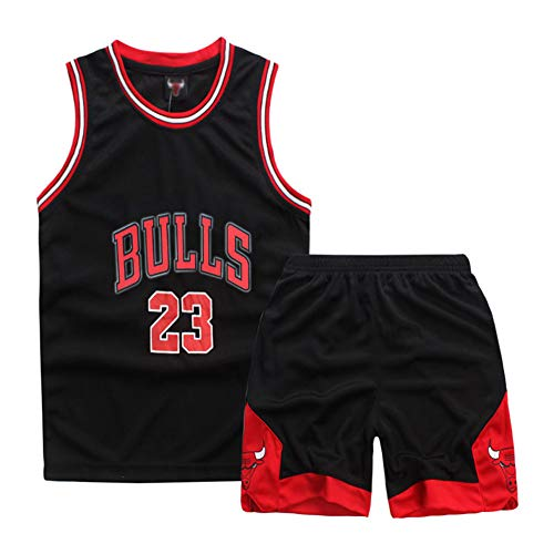 Sokaly Niños Chicago Bulls Jorden # 23 Curry#30 James#23 Conjunto de Camiseta de...