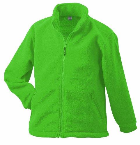 JAMES & NICHOLSON Homme Veste Polaire Full-Zip Vert Lime-Green l