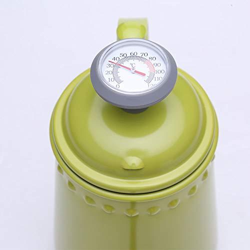 Yddxy Colorido Acero Inoxidable 304 con termómetro, cafetera de café Fino Adecuado para Estufas Normales y Estufas de inducción,Rojo