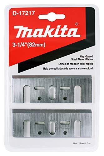 """Makita - Juego de 2 cuchillas HSS de 3.25"""" para cepilladoras de 3.25"""", corte rápido para madera dura"""