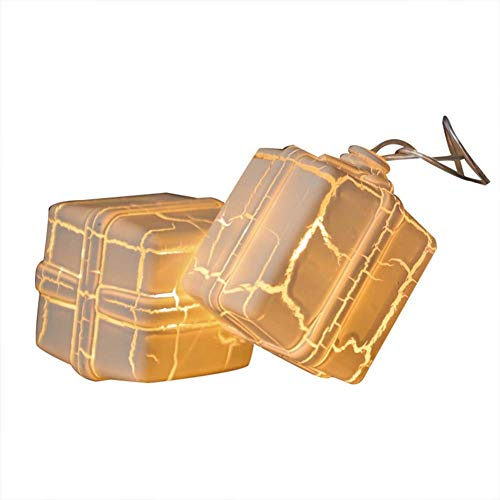SWQG-Sartén Caja de Regalo Brillante Cadena de Luces Al Aire Libre Interior Tierra Diodo emisor de luz Fiesta Impermeable Luz Decorativa Navidad AA-Luces (Size : 4.9FT 10LED-Battery)
