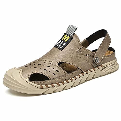 Hombres Sandalias Deportivas Cómodo Capas de Al Aire Libre Senderismo Zapatos de Playa Sport Sandals Slippers marrón 43