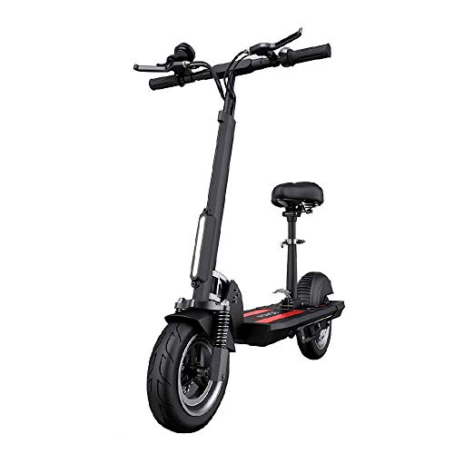 FUJGYLGL Scooter eléctrico Plegable y portátil, Scooter con Asiento Desmontable, Soporte de Crucero de Velocidad Constante y Carga USB, Velocidad máxima de 34 km/h Scooter de cercanías