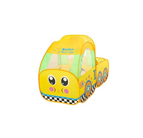 KJZhu De juegos for niños tienda de la casa, Tienda Amarilla coche de la historieta Interesante Juego tienda al aire libre del parque juguete salas de juegos portátil, con la bola del hoyo Plegable