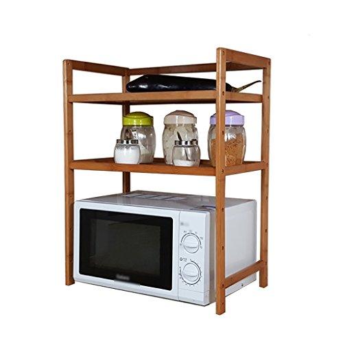 Xuping shop Estante de microondas para horno y utensilios de cocina, estante organizador de 3 niveles, bambú (disponible 43/53/60/70 x 32 x 40 cm) (tamaño 70 cm)
