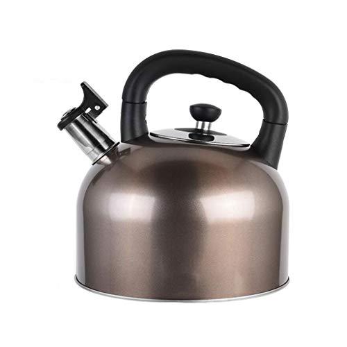 Bouilloire Amovible De Teakettle en Acier Inoxydable 304 Grande Capacité Sifflet Cuisinière À Cuisinière À Gaz Cuisinière Général 3 Couleur MUMUJIN (Capacity : 4L, Color : Brown)