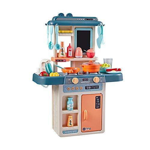 Juguetes De Cocina con Sonido, Juegos De Cocina Portátiles Mini Cocina Juego De Simulación Juego De Ollas Y Sartenes para Cocinar Postre Comida Fiesta Juguete De rol Accesorios para Niñas Y Niños