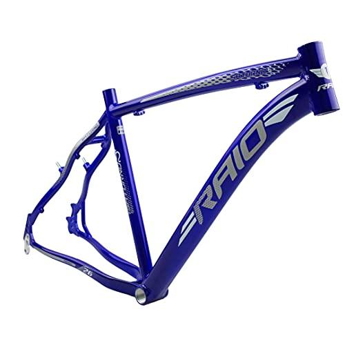 Quadro bicicleta Aro 26 Tamanho 19 Alumínio Freio V-Break e Disco C/Gancheira (Azul Cobalto, 19)