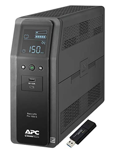 APC Sine Wave UPS Battery Backup & Surge Protector, 1500VA, APC...