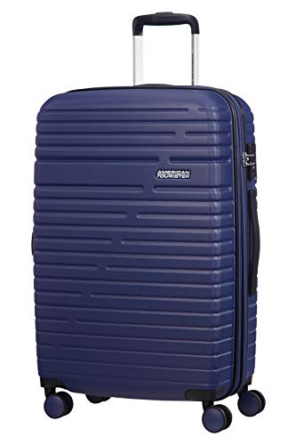 American Tourister Aero Racer Spinner 68 Expandable - 3.6 Kg Bagaglio a Mano 75.5 Liters, Blu (Nocturne Blue)