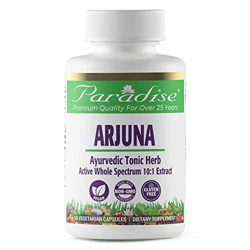 Paradise Herbs Arjuna | Cardiovascular Heart Health Support | Antioxidant Supplement | Vegan | NON-GMO | Gluten Free | 60 Vegetarian Capsules