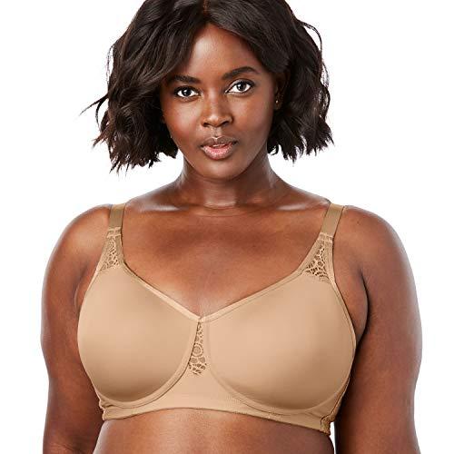 Comfort Choice Women's Plus Size Stay-Cool Wireless T-Shirt Bra - 52 B, Nude
