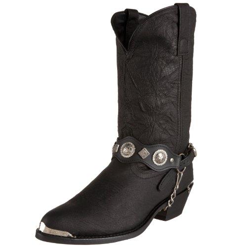 """Dingo Men's Concho Strap 12"""" Boot,Black,9 D(M) US"""