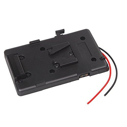 Andoer Akku Rucksack Platte Adapter Batterieplatte für Sony V-Schuh V-Mount V-Lock Akku External für DSLR-Camcorder Videoleuchte