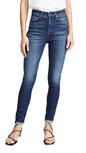 Rag & Bone/JEAN Women's Nina High-Rise Skinny Jeans, Irving, Blue, 27